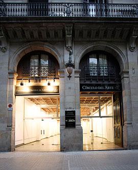 Entrada a Círculo del Arte. Calle Princesa 52, Barcelona