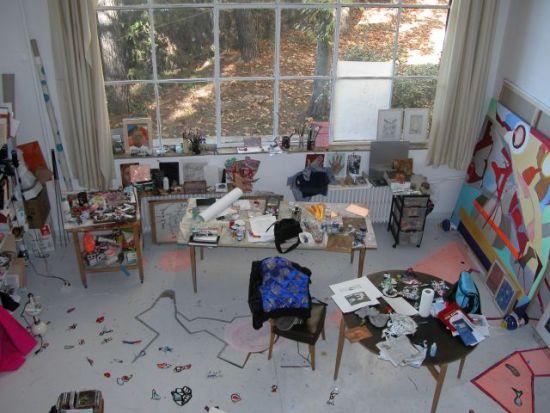 El taller de la artista Sarah V.