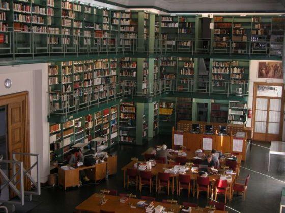 Sala de lectura de la biblioteca de la Casa de Velázquez