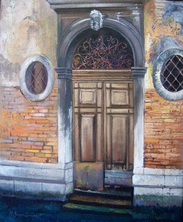 Puerta veneciana. M. Bosch Cavedo. Óleo sobre tela