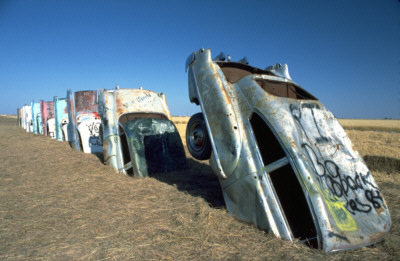 Ant Farm, Cadillac Ranch, 1974