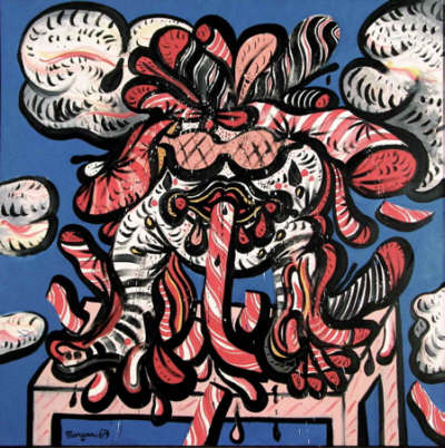 Personnage, 1969. Acrílico sobre lienzo, 152,4 x 152,4 cm