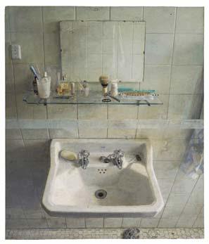 Lavabo y espejo, 1967-68