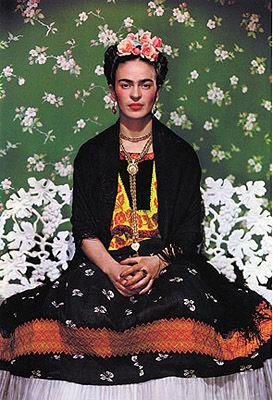 Nickolas Muray, Frida Kahlo on Bench (portada de Vogue), 1938