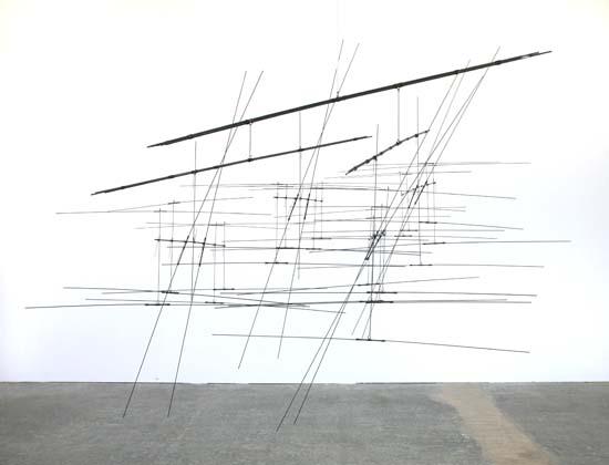 Linienschiff Kap 2127. Hierro. 2007. 205 x 265 x 165 cm. Ejemplar único.