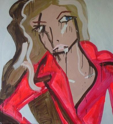 Katherine Bernhardt, Giselle pink coat versace, 2009