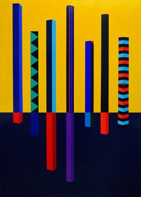 Comedia del arte, 2009. Acrílico sobre madera. 120 x 80 cm.