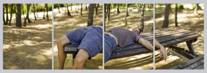 Jesús Micó, Jose tumbado en un merendero cerca de Migdia, 2009
