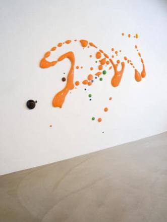 Peter Zimmermann, Vista instalación No title -drips-, 2009