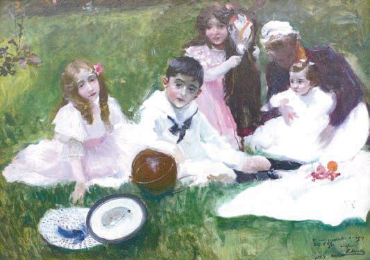 Joaquín Sorolla, Niños y el ama en el jardín