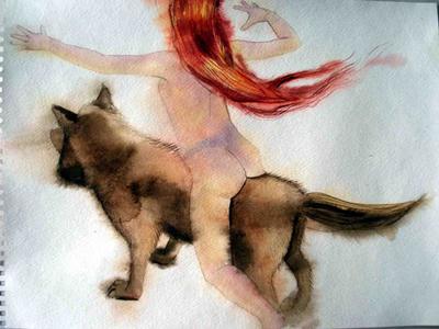 ALEJANDRA ALARCON. Acuarela sobre papel, 2009. 28x37cm