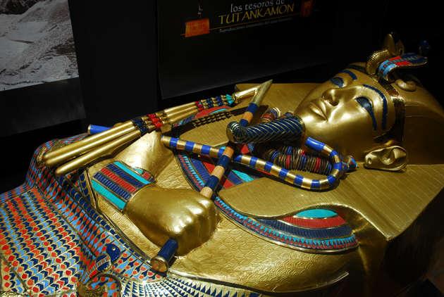 Sarcófago de Tutankamón a tamaño real