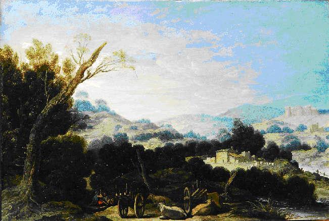 Francisco Collantes, Paisaje con pastores descansando