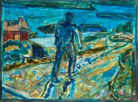 Munch en el Fiordo. 2009. A lienzo.