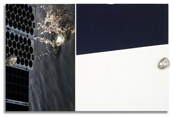 Tono Carbajo, Tres piedras y azul de Prusia, 2010