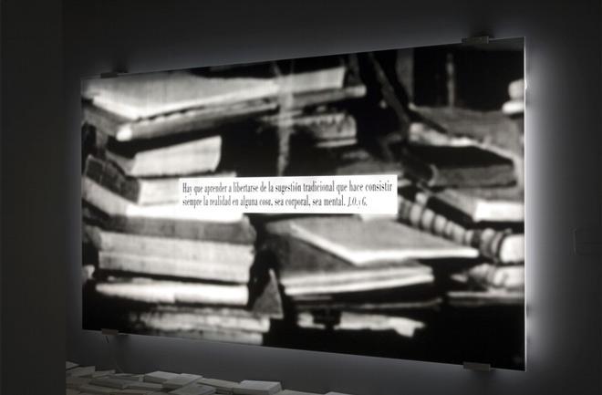 Joseph Kosuth, du Phénomèned e la Bibliothèque -Ortega y Gasset-, 2006
