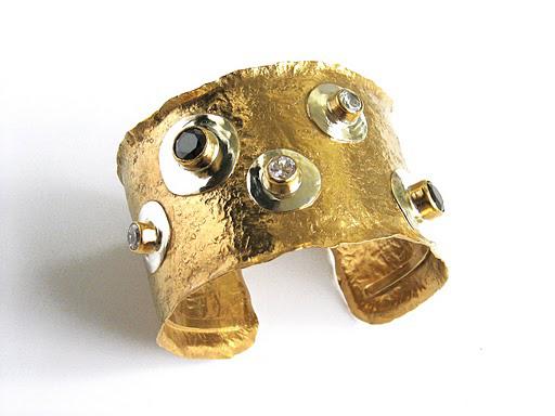 Pulsera plata bañada en oro