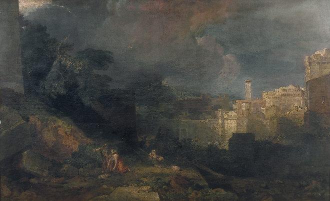 William Turner, La décima plaga de Egipto, 1813