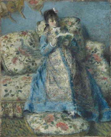 Renoir, Retrato de Madame Monet -Madame Claude Monet leyendo-