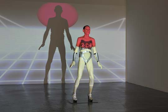 Body 5 Arrives, sculpture and video, 2010