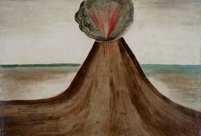 Victor Brauner, Volcan en Eruption, 1930