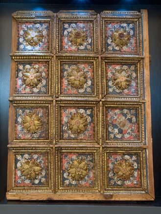 Artesonado renacentista, Siglo XVI, Museo de la Alhambra