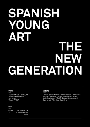 SPANISH YOUNG ART THE NEW GENERATION