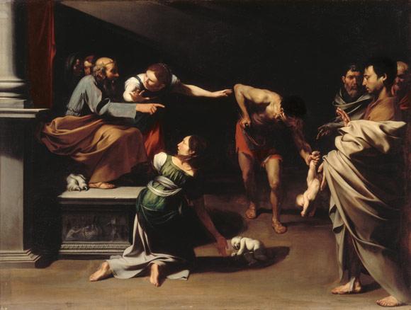 José de Ribera, El juicio de Salomón, h. 1609 - 1610