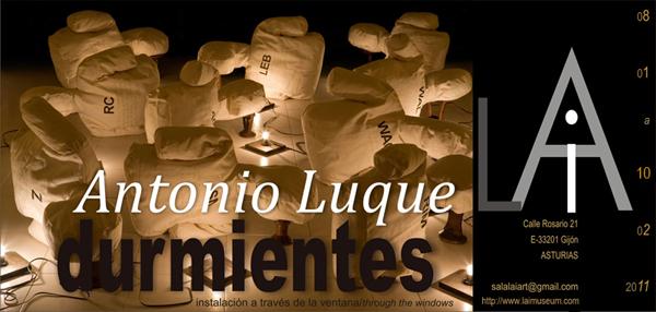 DURMIENTES | instalación de Antonio Luque en Sala LAi