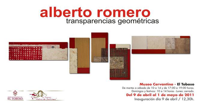 Alberto Romero, Transparencias geométricas