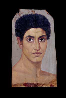 Retrato de momia de un joven. Hawara, Faiyum, Egypto, Periodo Romano, c. 80-120