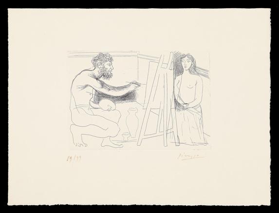 Pablo Picasso, Pintor ante su caballete, 1927
