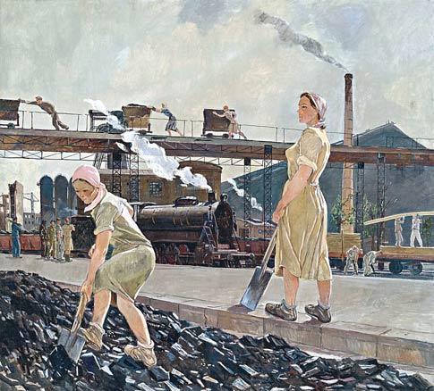 Aleksandr Deineka, La cuenca del Don, 1947