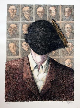 Roland Topor, Nouvelles en trois lignes, I a X, 1975