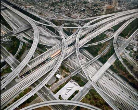 Edward Burtynsky, Autopista 2, Los Ángeles, 2003