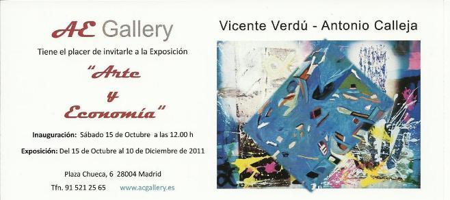 ARTE Y ECONOMÍA Vicente Verdú - Antonio Calleja