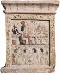Estela de la cantora de Amón Urener. Museo Cívico Arqueológico de Bolonia