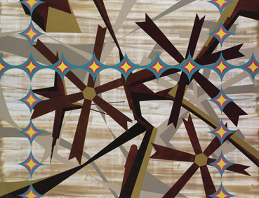 Alfonso sicilia Sobrino.Sin título,2011.Laca sobre madera.122 x 150 cm.