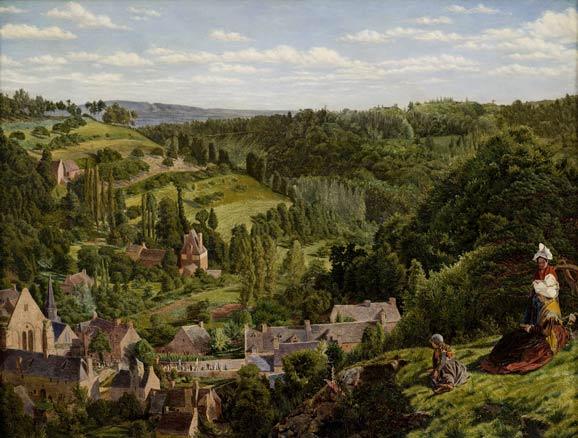 Thomas Seddon, Léhon desde el Mont Parnasse, Bretaña, 1853
