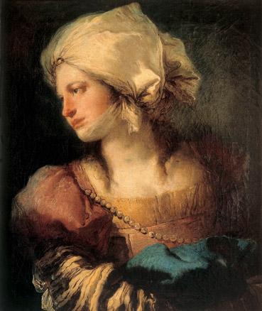 Giandomenico Tiepolo, Retrato de mujer de perfil, c. 1768