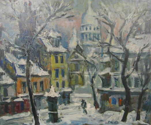Pedro Flores - Montmartre nevado