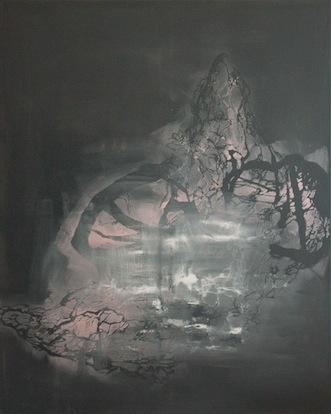 Selket Chlupka, The Marble Trail 2, 2012, gloss pintura en lienzo, 150 x 120 cm