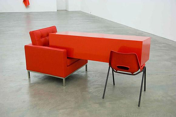 Angela de la Cruz, Transfer Red, 2011.