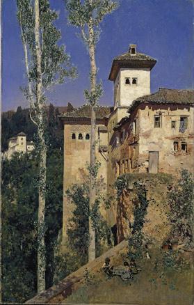 Martín Rico, La Torre de las Damas en la Alhambra de Granada, 1871