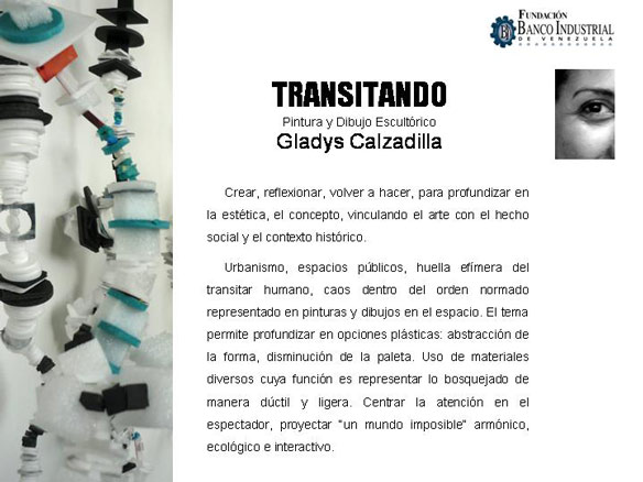 Gladys Calzadilla, Transitando