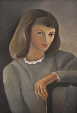 Dinora Doudtchitzky, Autorretrato con silla