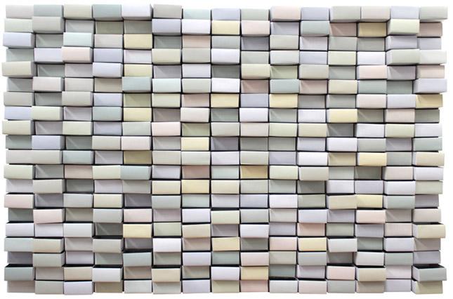 Causas, 2012 Cajas de cerillas y acrílico.  93x76x20cm.
