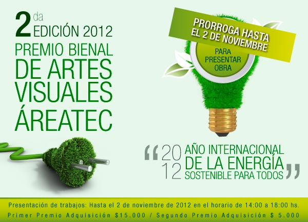 Extensón convocatoria Bienal ÁreaTEC 2012 al 2 de noviembre