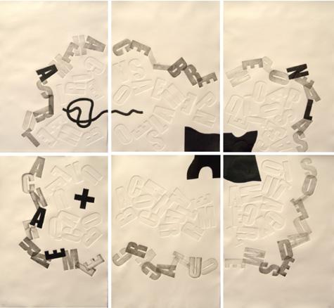 Jesús Algovi, Grabado Nana, Radierung, 140 x150 cm