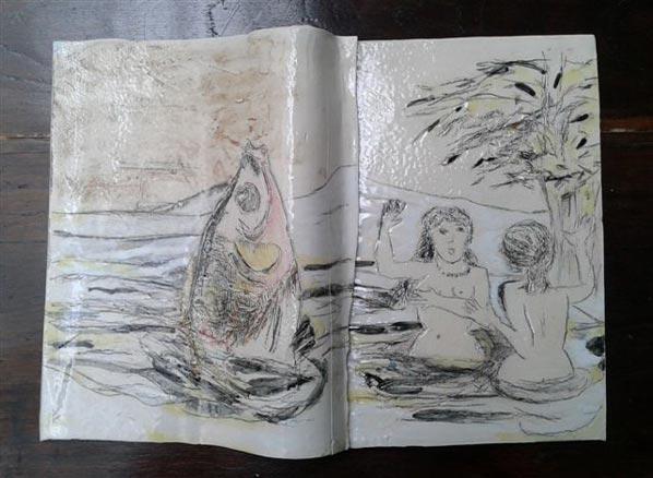 Débora Pierpaoli, Los Libros de Piedra -detalle-, 2012